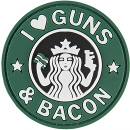 G-Force I Love Guns and Bacon PVC Morale Patch