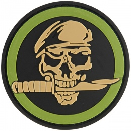 G-Force Skull & Knife Commando PVC Morale Patch