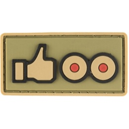 G-Force Thumbs Up Like Small PVC Morale Patch - TAN