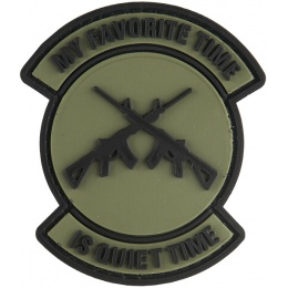 G-Force My Favorite Time is Quiet Time PVC Morale Patch - OD GREEN