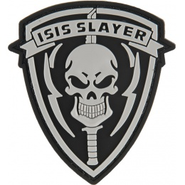 G-Force ISIS SLAYER Knife and Skull PVC Morale Patch - BLACK