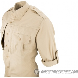 Propper Ripstop Reinforced Tactical Long-Sleeve Shirt (X-LARGE) - KHAKI