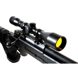 NcStar 6x42 Sniper Rifle Scope 6x Fixed Zoom w/ Ruby Lens - BLACK