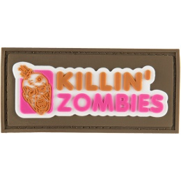 G-Force Killing Zombies PVC Morale Patch - TAN