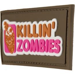G-Force Killing Zombies PVC Morale Patch - TAN