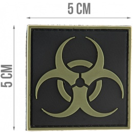 G-Force Biohazard Square PVC Morale Patch - OD GREEN