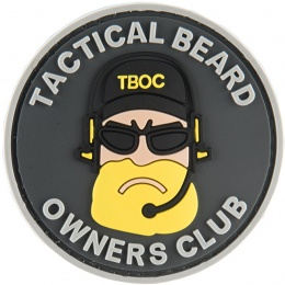 G-Force Tactical Beard Owners Club PVC Morale Patch - BLACK/YELLOW