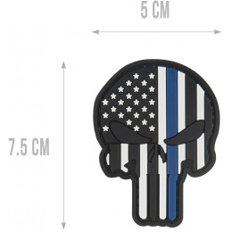 G-Force Punisher US Flag Thin Blue Line Morale Patch