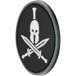 G-Force Spartan Molon Labe Round PVC Morale Patch - BLACK