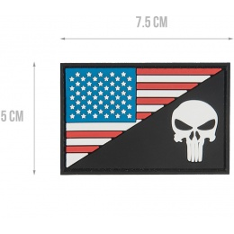 G-Force US FLAG with Punisher PVC Morale Patch