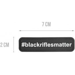 G-Force #blackriflesmatter PVC Morale Patch - BLACK