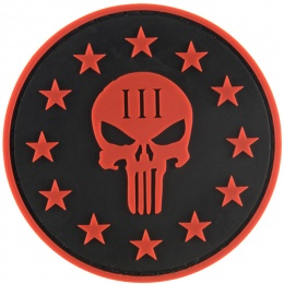 G-Force Punisher Three Percenter Round PVC Morale Patch