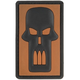 G-Force Bullet Skull PVC Morale Patch - ORANGE