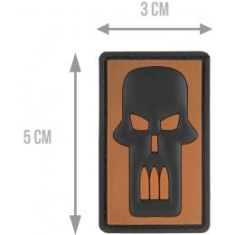 G-Force Bullet Skull PVC Morale Patch - ORANGE
