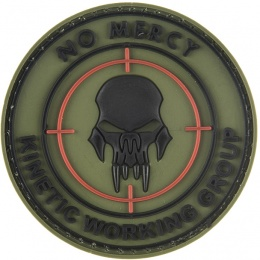 G-Force No Mercy Round PVC Morale Patch - OD GREEN