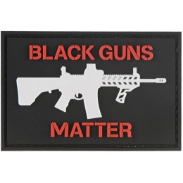 G-Force Black Guns Matter PVC Morale Patch