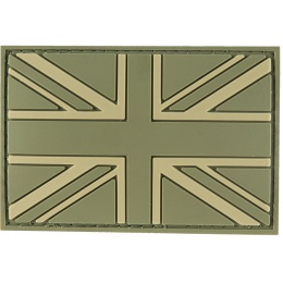 G-Force UK Flag PVC Morale Patch - OD GREEN