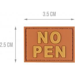 G-Force NO PEN PVC Morale Patch - ORANGE
