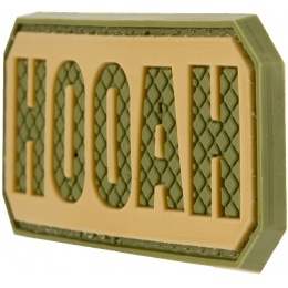 G-Force HOOAH PVC Morale Patch - OD GREEN