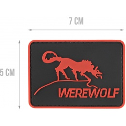 G-Force Werewolf PVC Morale Patch - RED