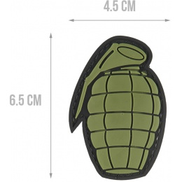 G-Force Grenade PVC Morale Patch - OD GREEN