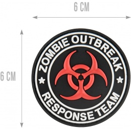 G-Force Zombie Outbreak Response Team Morale Patch - RED