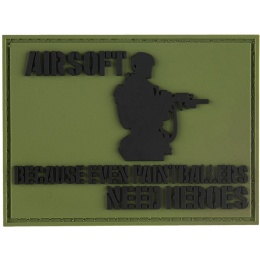 G-Force Even Paintballers Need Heroes Morale Patch - OD GREEN