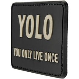 G-Force YOLO You Only Live Once PVC Morale Patch - BLACK