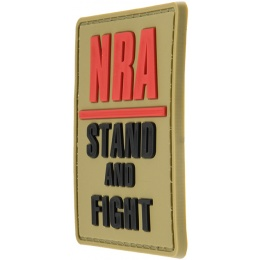 G-Force NRA Stand and Fight PVC Morale Patch - TAN