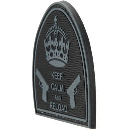 G-Force Keep Calm and Reload PVC Morale Patch - BLACK