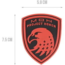 G-Force Eagle USA Project Honor PVC Morale Patch - RED