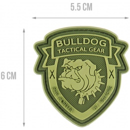 G-Force Bulldog Tactical Gear PVC Morale Patch - OD GREEN
