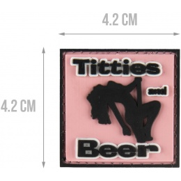 G-Force Titties and Beer Morale Patch - PINK
