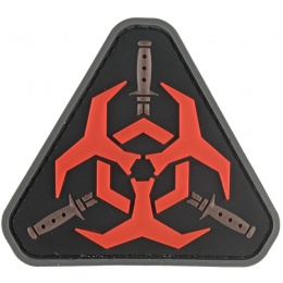 G-Force Resident Evil Biohazard PVC Morale Patch - RED