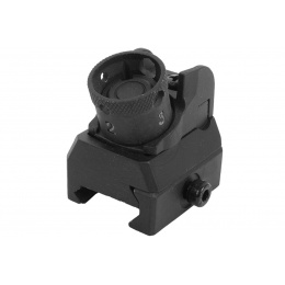 JG Full Metal 614 Airsoft Adjustable Rear Rotary Sight
