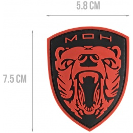 G-Force MOH Grizzly PVC Morale Patch - RED