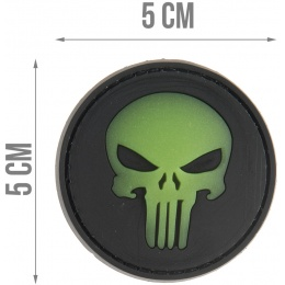 G-Force Round Punisher Glow-In-The-Dark PVC Morale Patch