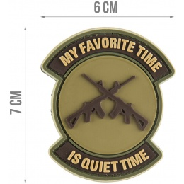 G-Force My Favorite Time is Quiet Time PVC Morale Patch - TAN