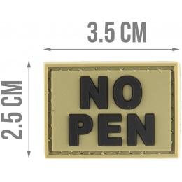 G-Force NO PEN PVC Morale Patch - OD GREEN