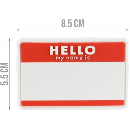 G-Force Hello My Name is... PVC Morale Patch