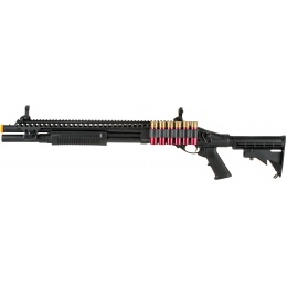JAG Arms Scattergun SP Airsoft Gas Shotgun (Extended Tube) - BLACK