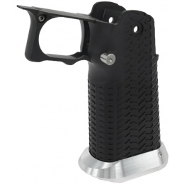 Airsoft Masterpiece Aluminum Grip for Hi-Capa Airsoft Pistols Type 11 - BLACK