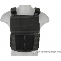 Lancer Tactical Buckle Up Version Airsoft Plate Carrier - BLACK