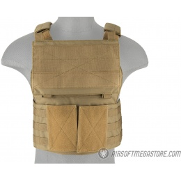 Lancer Tactical Buckle Up Version Airsoft Plate Carrier - TAN