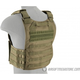 Lancer Tactical Buckle Up Version Airsoft Plate Carrier - OD GREEN