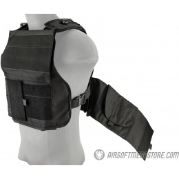 Lancer Tactical Battle 1000D Nylon MOLLE Plate Carrier - BLACK