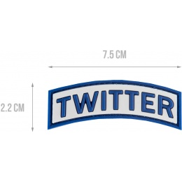 G-Force Twitter PVC Morale Patch - BLUE