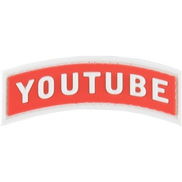 G-Force Youtube PVC Morale Patch - RED