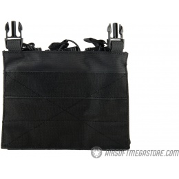 Lancer Tactical Adaptive Hook and Loop Triple Dual Mag Pouch - BLACK