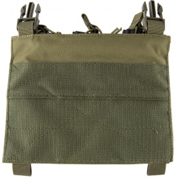 Lancer Tactical Adaptive Hook and Loop Triple Dual Mag Pouch - OD GREEN